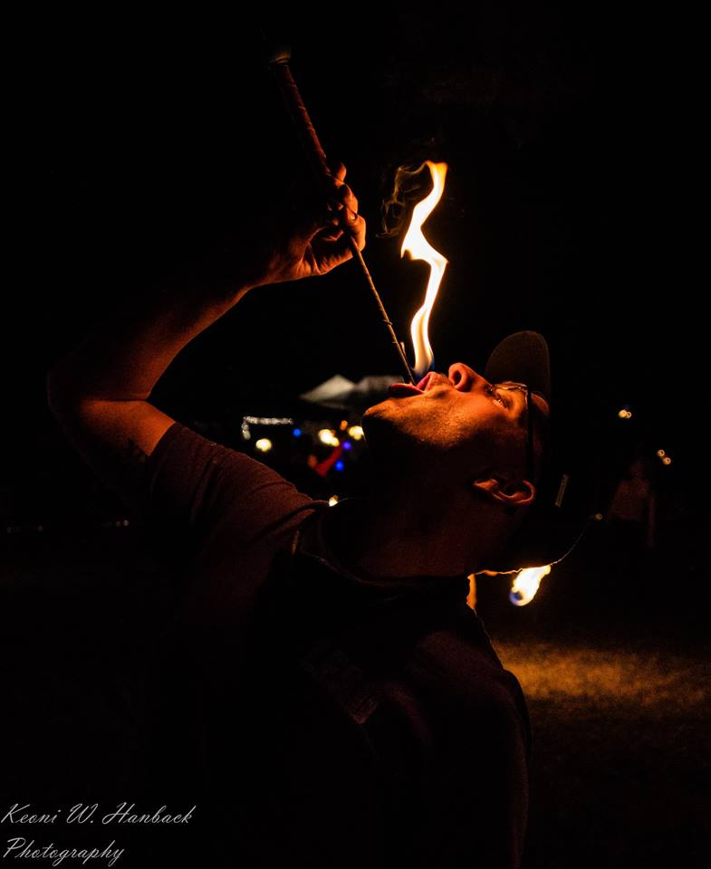 Nashville Fire Eater Zeus Bigalow Flamewater Circus