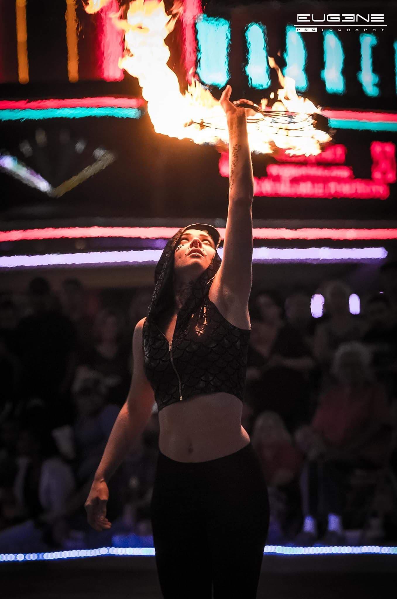 Wichita Fire Dancer Madison Flamewater Cicus