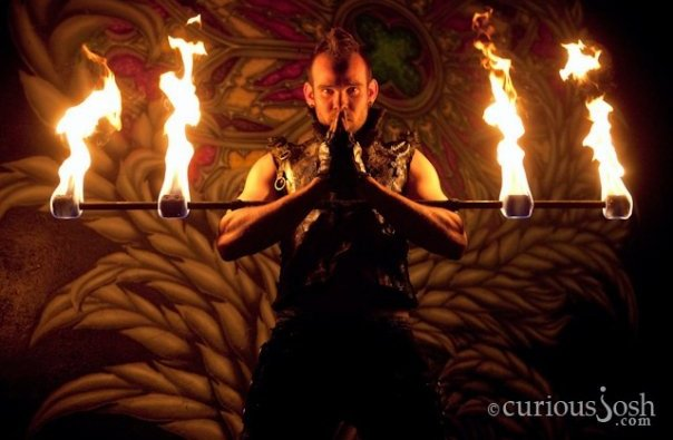 Los Angeles Fire Performer Lester Love Flamewater Circus (6)