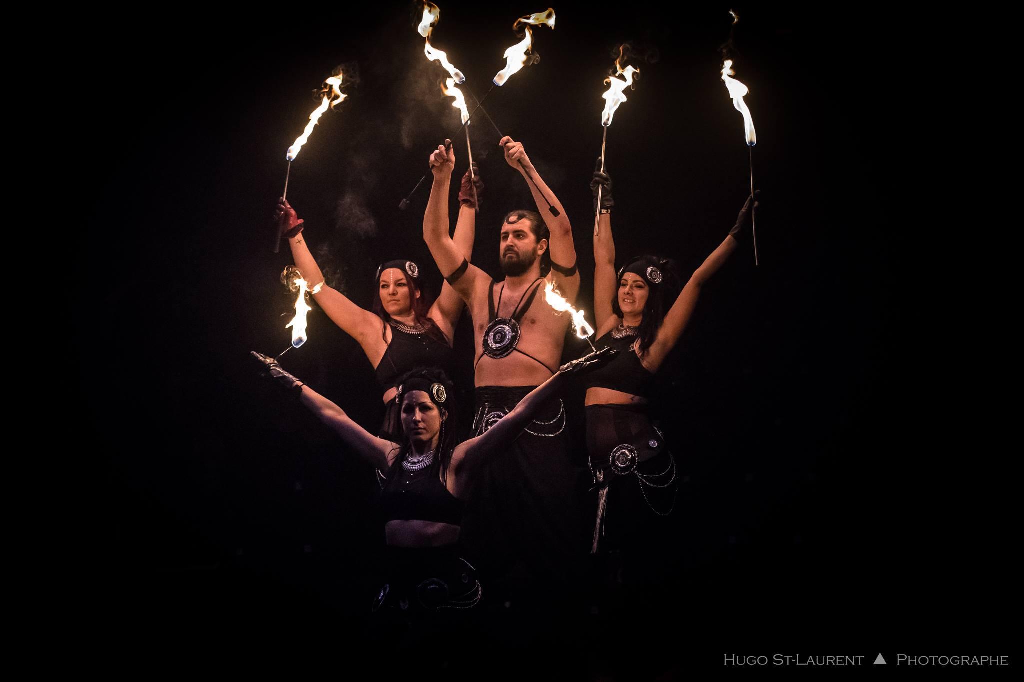 Montreal Fire Show Dart Vapor Val Rose Flamewater Circus