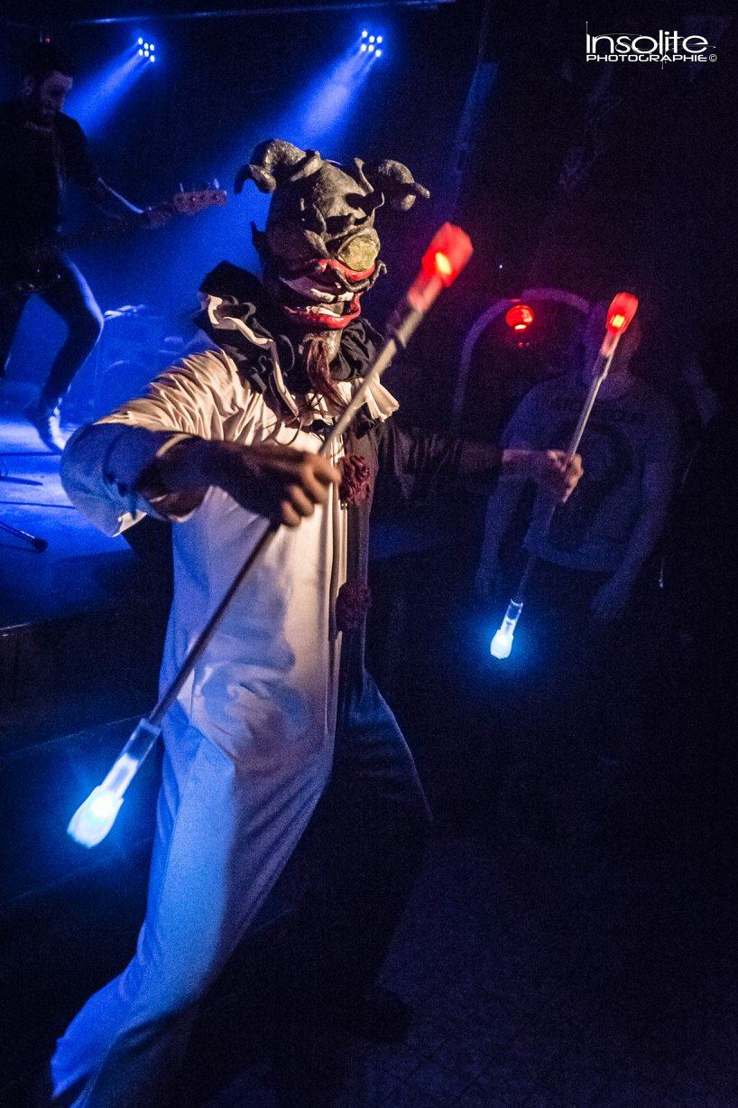 Montreal LED Glow Performer Golem Obsidian Flamewater Circus