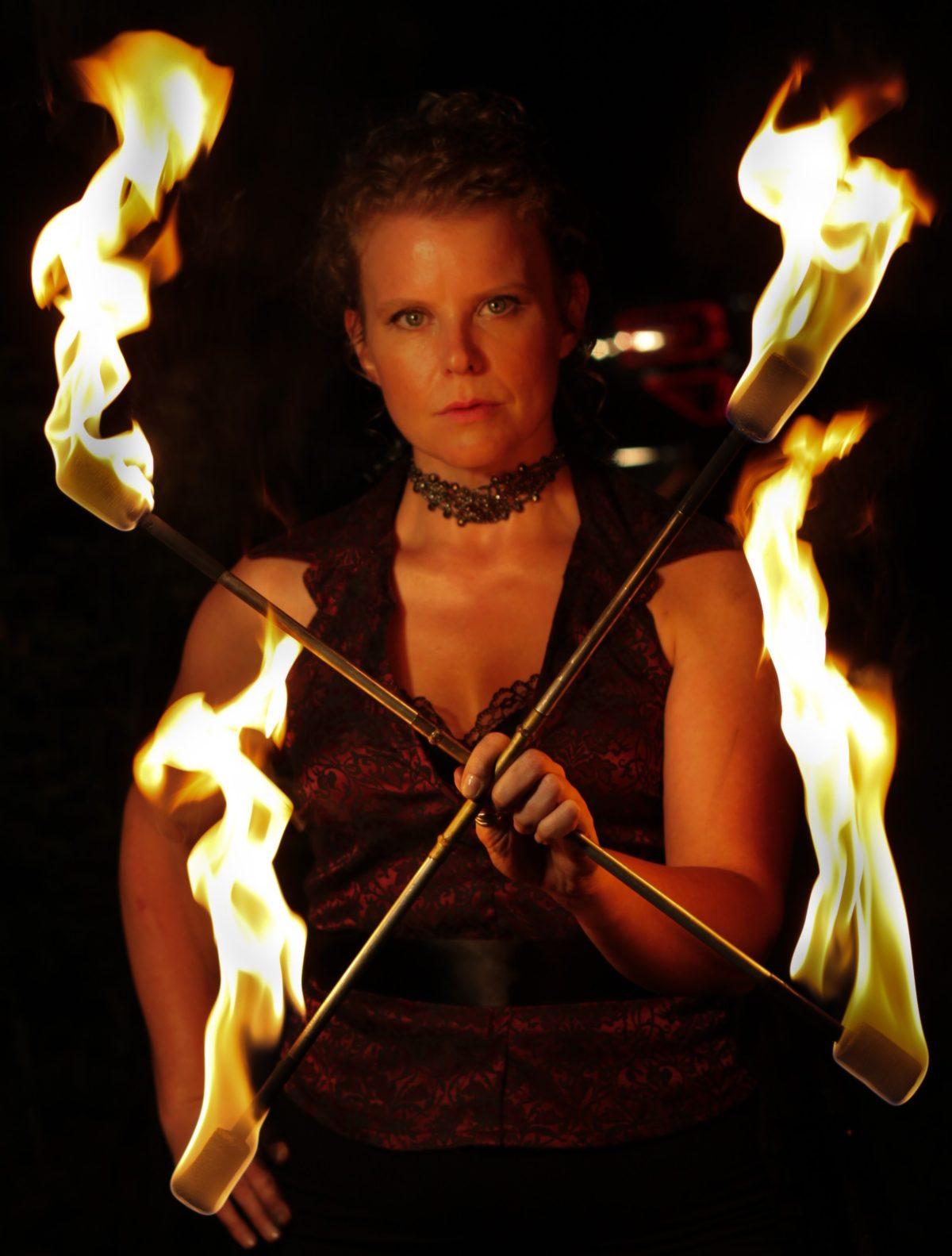 Winnipeg Fire Show Tara Patrice Flamewater Circus