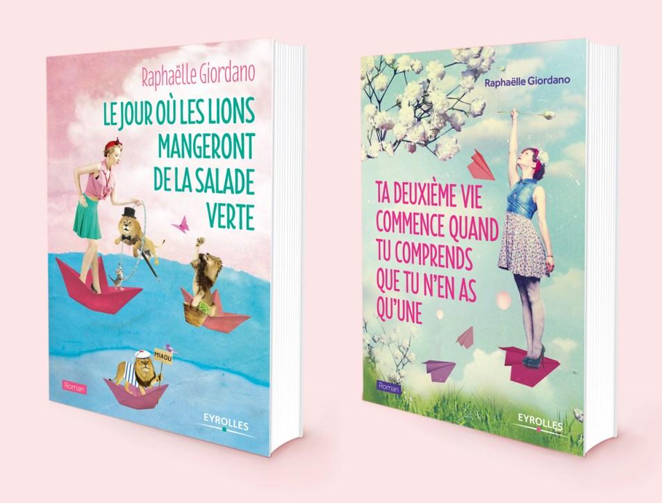 Couvertures des deux romans de Raphaëlle Giordano