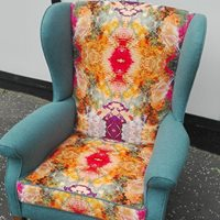 Parker Knoll winged arm chair