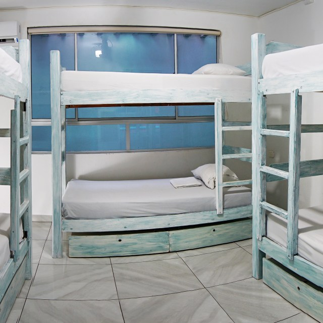 6-Bed Dorm with shared bathroom