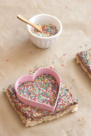 Fairy Bread. Bread, butter and sprinkles. Every kids party has fairy bread.