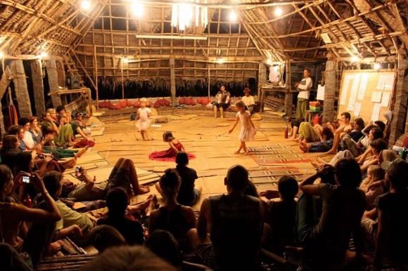 Main hut living room