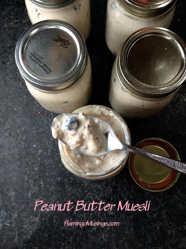 Peanut Butter Muesli | Flamingo Musings
