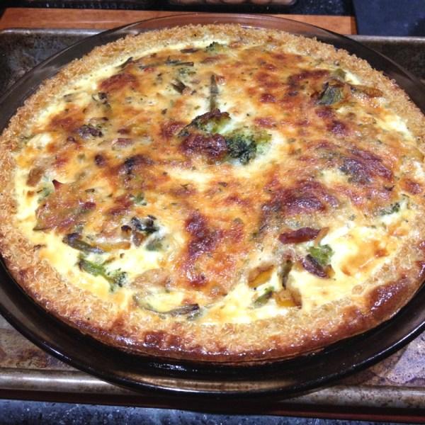 Quinoa-Crusted Quiche | FlamingoMusings.com