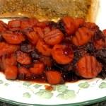 Cranberry Carrot Tsimmes (Braised Honey Carrots)
