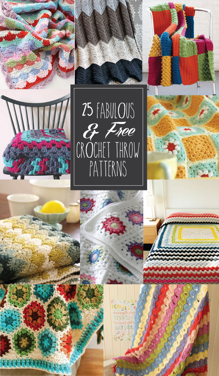 FREE Crochet Throw Blanket Patterns featured by top US crochet blog, Flamingo Toes.