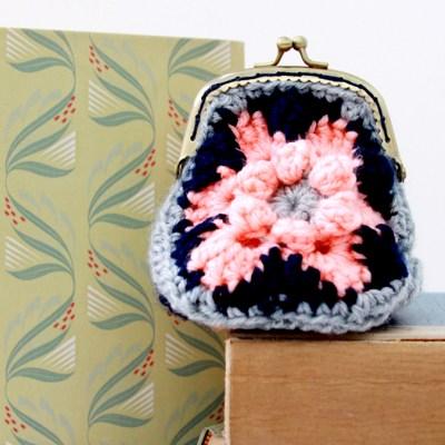 Crochet Hexagon Coin Purse