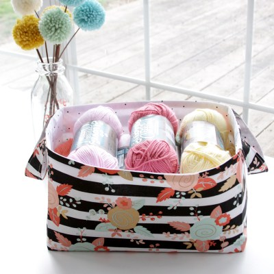 Simple and Sweet 30 Minute DIY Fabric Storage Basket
