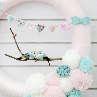 Hearts and Lovebirds Valentine's Day Wreath