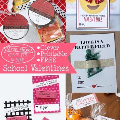 Must Have Craft Tips – Printable School Valentines