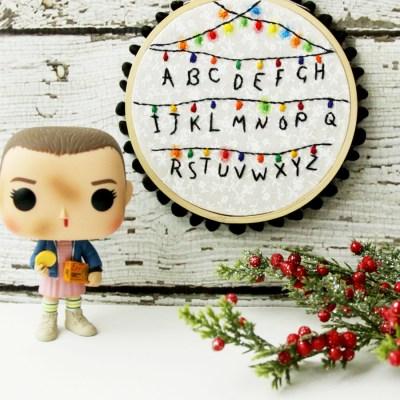 Stranger Things Hoop Ornament