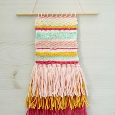 DIY Colorful Weaving Art