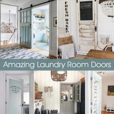 Fun and Creative Laundry Room Doors
