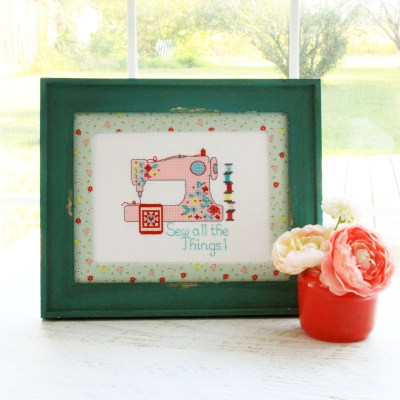 New Cross Stitch Patterns and Rose Lane Fabrics in the Shop!