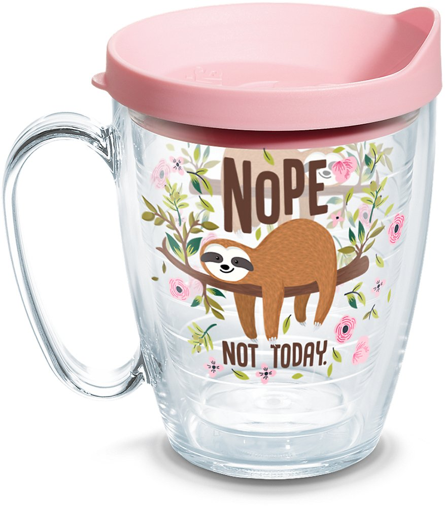 """Gift Ideas for """"Grown Ups""""! by popular Tennessee life and style blog, Flamingo Toes: image of Nope Not Today sloth tumbler."""