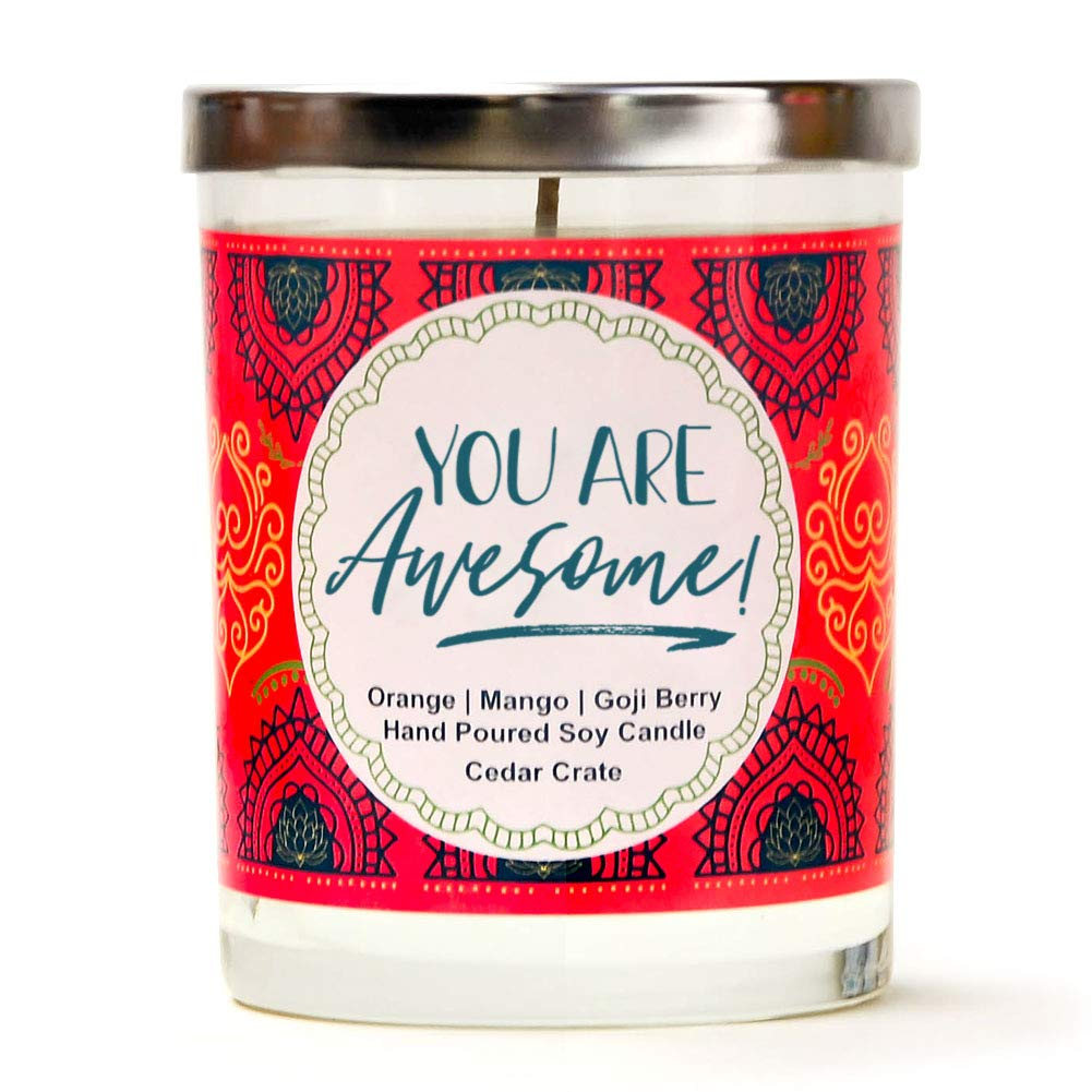 """Gift Ideas for """"Grown Ups""""! by popular Tennessee life and style blog, Flamingo Toes: image of You are Awesome candle."""