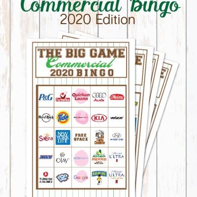 2020 Big Game Commercial Bingo