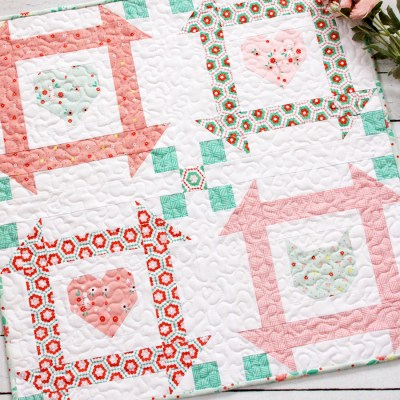 All You Need is Love and a Cat Mini Quilt