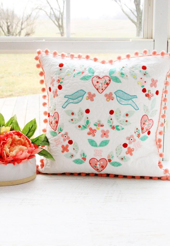 Pillow Talk Love Birds Pillow