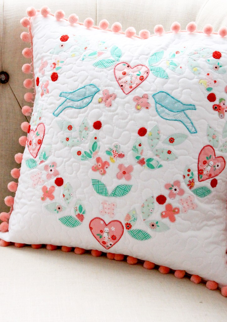 Embroidery and Applique Pillow