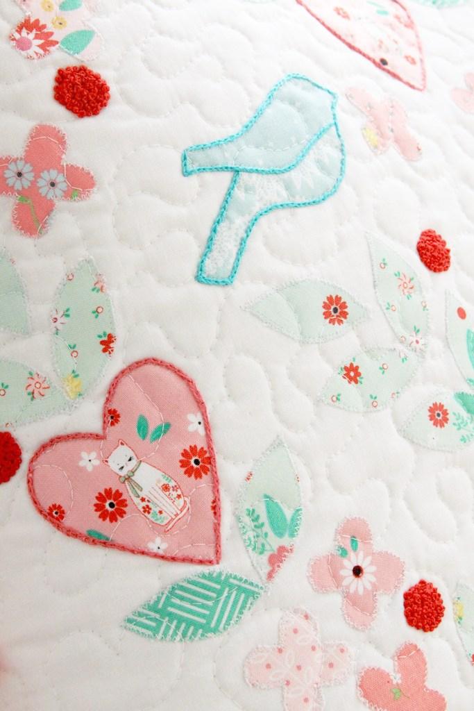 Embroidered Pillow Talk Pillow