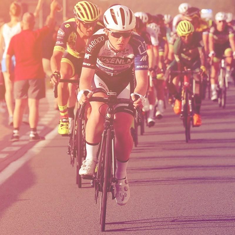 Irish U23 Cyclist Connor Lambert on the Attack in a Belgian Inter Club Race