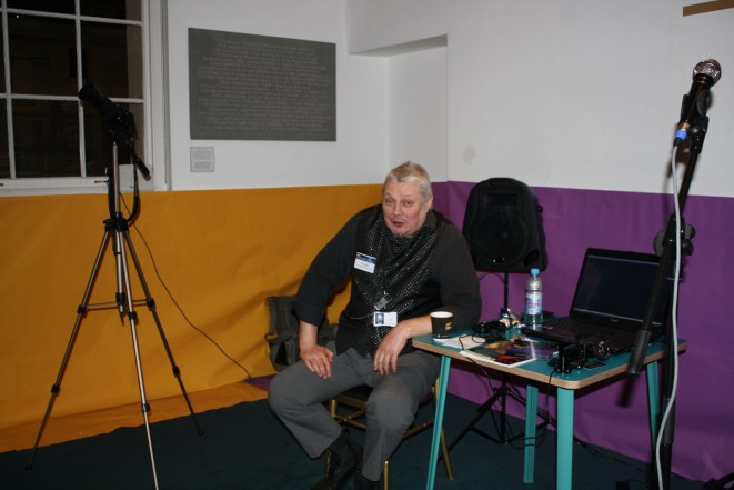 Brian takes a rest after an Astrophotography presentation