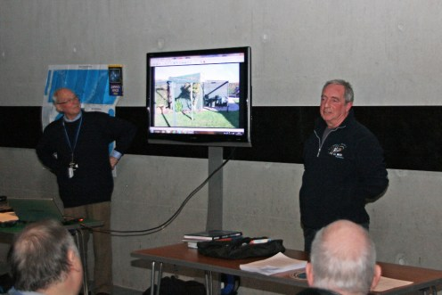Martin shows a picture of his garden shed... but this is no ordinary shed! It's an observatory!