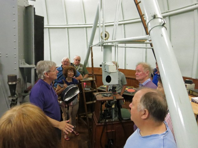 """Thompson reflector Coude system Keith explains the Coude focus system that enabled a fixed eyepiece or spectrograph to be used with the 30"""" reflector"""