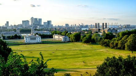 View over Greenwich Park on a Glorious Summer Evening