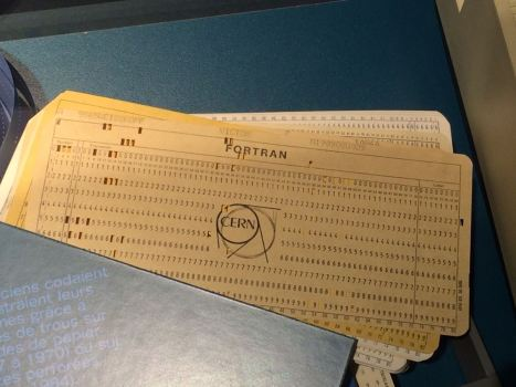 Old Fortran punch cards