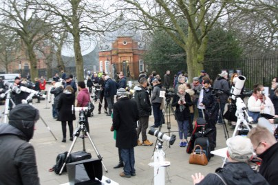 Flamsteed telescopes set up and ready