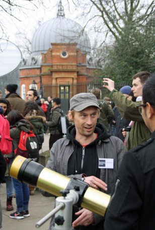 Mark and his solar telescope