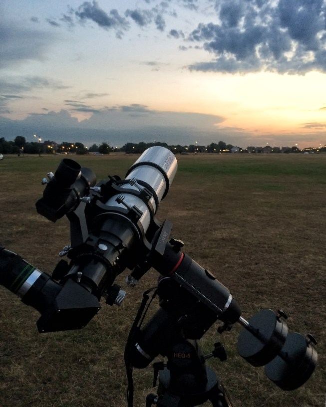 Telescope set up on Blackheath