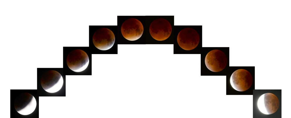 Composite image of the lunar eclipse by Ted Teece
