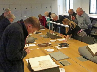 Viewing some correspondence from Nevil Maskelyne