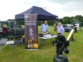 Andy on the Flamsteed stall