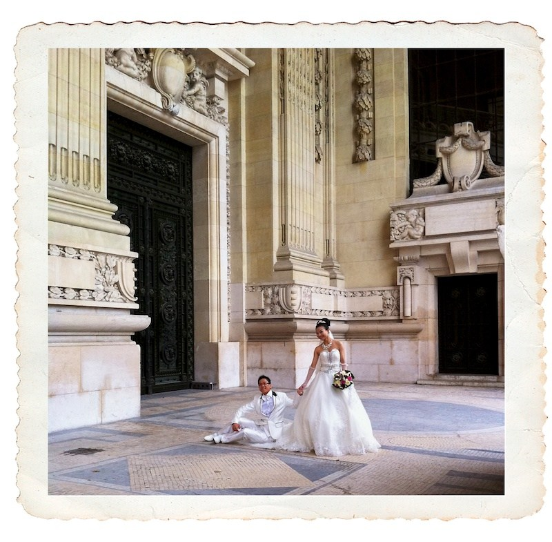 Le Grand Palais: quite a place to have wedding photos taken