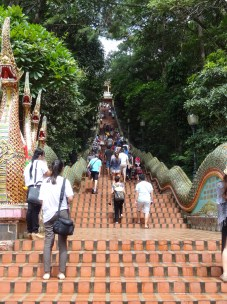 The 300 steps to Wat Phrat That at Doi Suthep