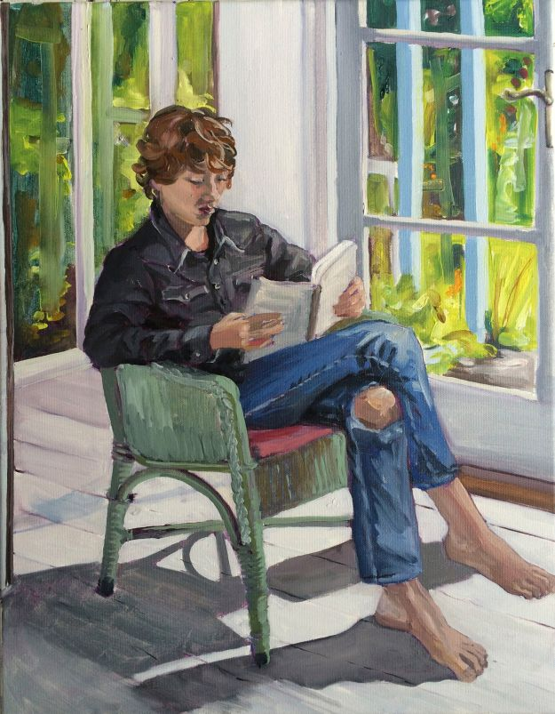 Jesse Reading In The Studio, Cornwall