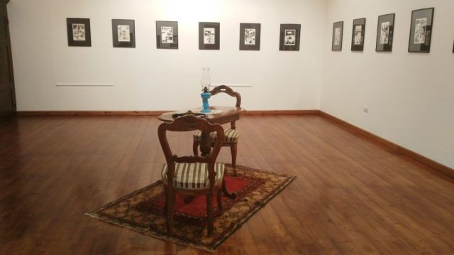 """Mostra """"La danza dei corvi"""" di Manuelle Mureddu. Illustrazioni liberamente tratte da """"Il giorno del giudizio"""", di S. Satta."""