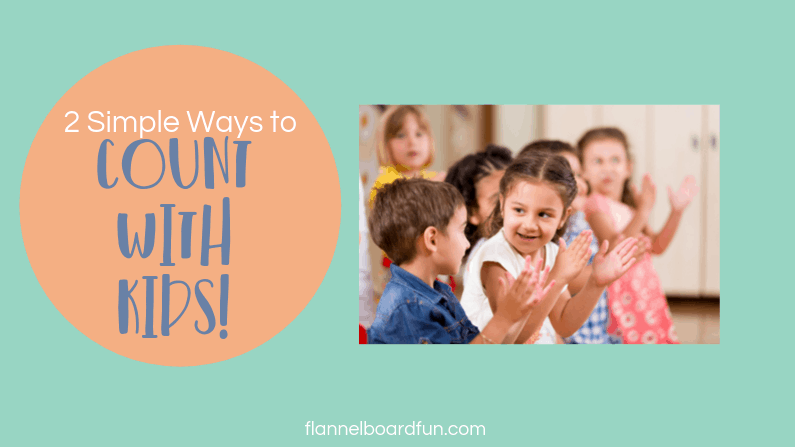 kids clapping with text that says Count with kids