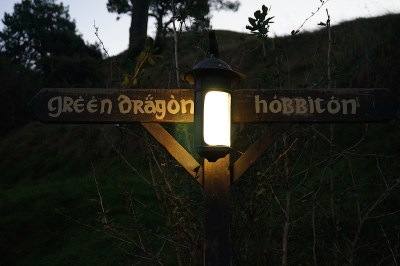 At the Hobbiton Movie Set near Matamata.