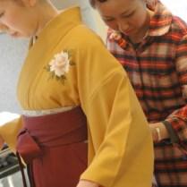 卒業式袴着付け|青葉区、藤が丘、美容室、フラップヘアー