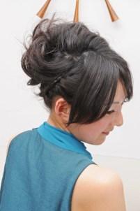 謝恩会アレンジヘアーメイク 青葉区、藤が丘、美容室、フラップヘアー
